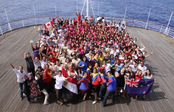第21回世界青年の船事業の集合写真です