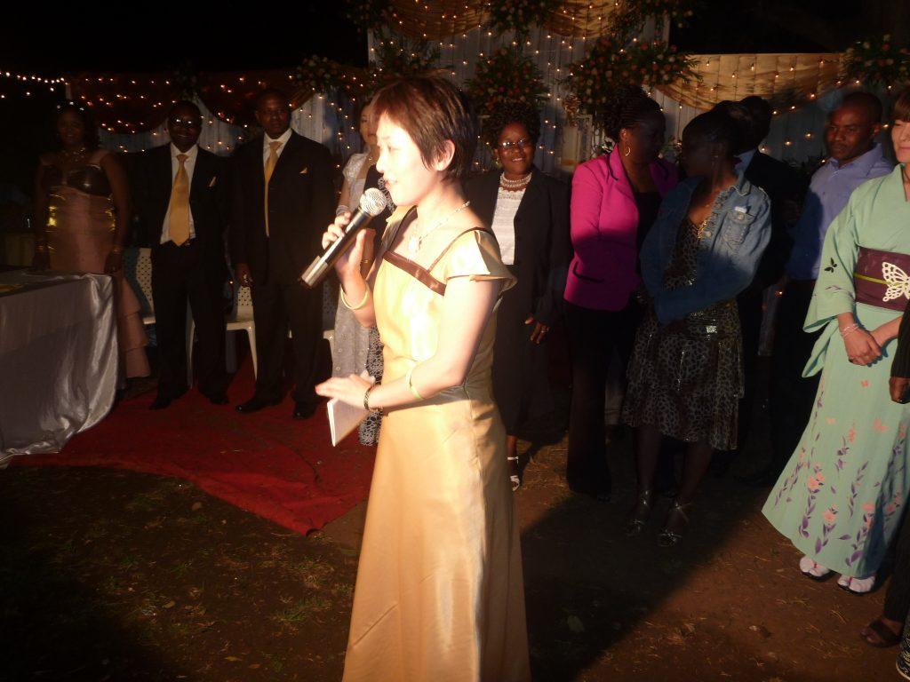 タンザニアで友人代表スピーチ